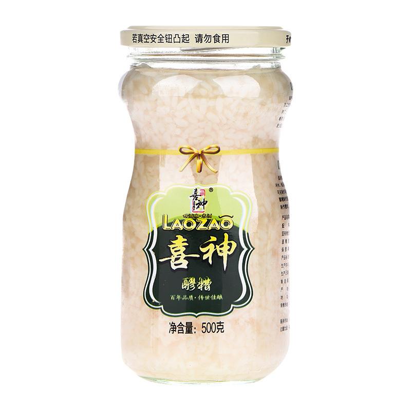 喜神醪糟500g(立瓶)汤圆米酒农家孕产妇月子下奶