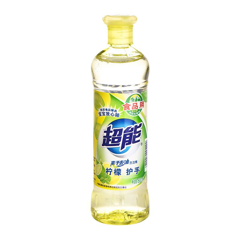 超能离子洗洁精柠檬护手500g 厨房清洁
